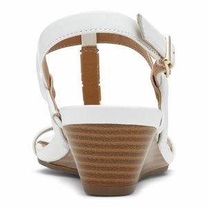 13f189c4648d Vionic Shoes - Vionic Cali White T Strap Wedge Heel Sandal NEW